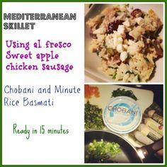 Mediterranean Skillet with Alfresco Chicken Sausage | Basilmomma