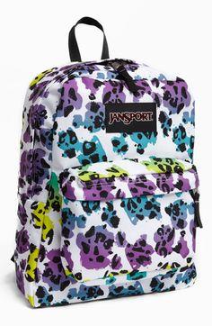 Jansport Backpack (Girls) available at Backpack Craft, Puppy Backpack, Hiking Backpack, Backpack Purse, Sac Jansport, Mochila Jansport, Cute Backpacks For School, Cool Backpacks, Kids Bop