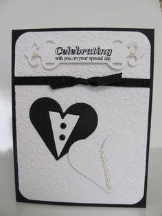 Wedding Card Black and White Celebrating Card by SassyScrapsCrafts, $3.50
