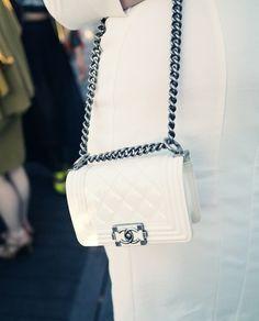 #white #boybag #Chanel