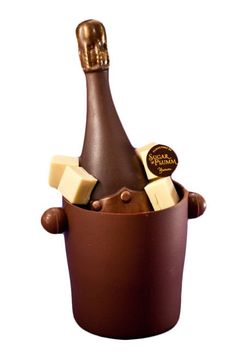 Sugar and Plumm Chocolate Champagne Bottle $70