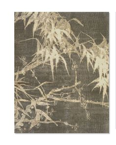 Hand knotted silk area rug looks like a Chinese painting By Fort Street Studios
