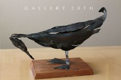 This is an intense brutalist sculpture! The form is superb! A fowl in brutalist form, this piece seems almost. A Brutalist Treasure For. the surface of a sculpture. This sculpture will look AMAZING in your NY penthouse. Wood Bird, Metal Birds, Metal Art Sculpture, Wall Sculptures, Modern Wall Art, Mid-century Modern, 60s Art, Disney Artists, Brutalist