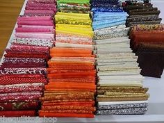 50 Fat Quarters No Duplicates 100 Cotton Sewing Quilting Fabric | eBay
