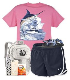 """""""On My Way to My First Dance Competition Of This Year!"""" by preppy-southern-girl88 ❤ liked on Polyvore featuring Guy Harvey, NIKE, Chaco, The North Face, Swell and Casetify"""