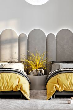 Tikhaya House on Behance Apartment Interior Design, Luxury Interior Design, Contemporary Bedroom, Modern Bedroom, Luxury Home Decor, Luxury Homes, Kids Bedroom, Bedroom Decor, Kids Room Design