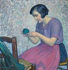 Myron Barlow,  Winding Yarn,  ca. 1920-37