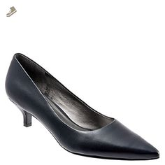 Trotters Women's Paulina Navy Soft Kid Leather 10 W (D) - Trotters pumps for women (*Amazon Partner-Link)