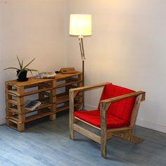 Pallet DIY Sideboard & Chair
