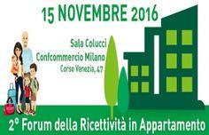 2° Forum della Ricettività in Appartamento, 15 novembre 2016, Milano