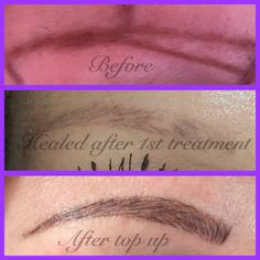 #microblading #eyebrows #tattooeyebrows #semipermanentmaleup #feathertouch