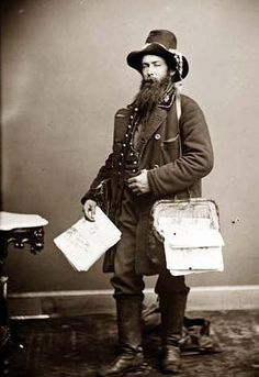 Newspaperman. 1860