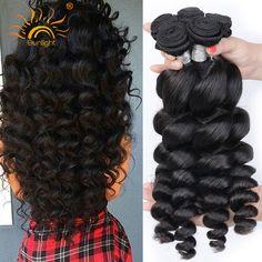 4 Bundle Deals 8A Unprocessed Virgin Hair Brazilian Loose Wave Human Hair Bundles Brazilian Virgin Hair Loose Body Wave