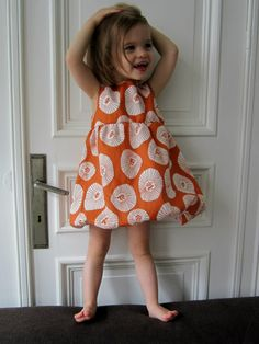 balloon dress in lotta jansdotter fabric