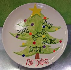 tree family plate