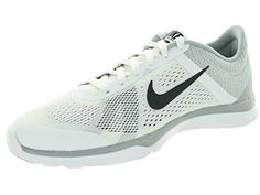 low priced d24c1 90717 Nike Women s In-Season Tr 5 White Dark Grey Wlf Gry Cl Gry Training Shoe  Women US. Rubber pods on the outsole give traction and durability.