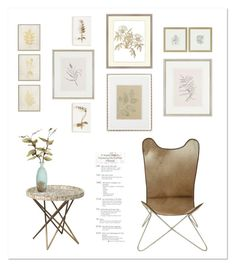 """""""Botanical Wall Art"""" by gangdise ❤ liked on Polyvore featuring interior, interiors, interior design, home, home decor, interior decorating, Country Curtains, Universal Lighting and Decor, Tommy Mitchell and Haffke"""