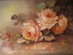 """""""Breathtaking HAND PAINTED ROSES"""" ~ Museum Quality Masterpiece Limoges from oldbeginningsantiques on Ruby Lane"""