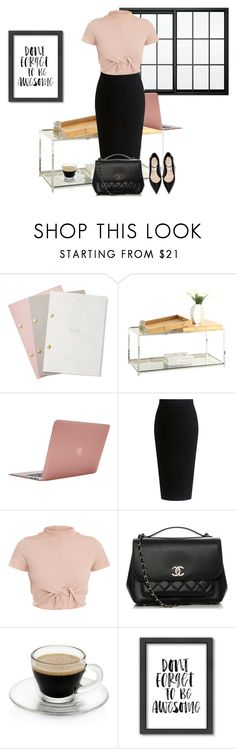 """""""Office look"""" by monika1555 on Polyvore featuring StudioSarah, Convenience Concepts, Incase, Theory, Chanel and Americanflat"""