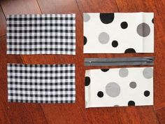 Ingrédients et recette :    Couper quatre morceaux de tissu, de dimensions égales. La longueur sera celle de la fermeture à glissière, la ...