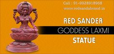 Buy High Quality Red Sander Goddess Laxmi Statue @ Low Cost Red Sanders, Handicraft, India, Statue, Stuff To Buy, Craft, Goa India, Arts And Crafts, Sculptures