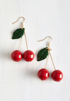 Drupe Hug Earrings. Embrace your bold side by dangling these beaded earrings from your lobes! #red #modcloth