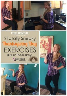 5 totally sneaky ways to work out this Thanksgiving! Like, comment and use #BurntheTurkey - for every use of the hasthag, Anytime Fitness will donate $1 to Feeding America! Plus, when you share a photo or video of how you're burning the turkey, you're entered to win a free, one-year Anytime Fitness membership! Use these moves or invent your own via @fitfluential #FitFluential #ad