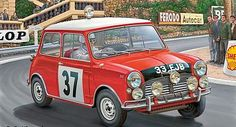 Revell of Germany Mini Cooper Rally Winner Monte Carlo 1964 -- Plastic Model Car Kit -- 1/24 Scale -- #07064