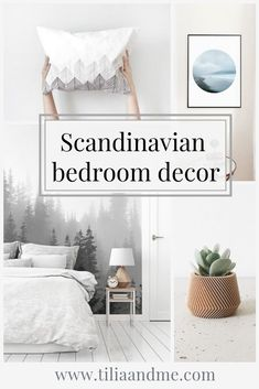 Scandinavian bedroom decor - Home Design Scandinavian Bedroom Decor, Nordic Bedroom, Scandinavian Interior Design, Scandinavian Home, Minimalist Scandinavian, White Bedroom, Bedroom Wall, Home Design, Hygge