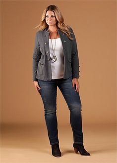 Plus Size Jeans and Jacket
