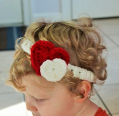 New to LittleMonkeyShop on Etsy: Crochet PATTERN Headband Crochet Pattern Girls Crochet Headband Pattern - Heart Headband - Multiple sizes - Instand PDF download (4.00 USD)