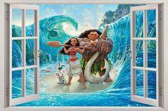 Moana 3D Window Decal Wall Sticker Home Decor Art Mural Disney Princess H711 in Home & Garden, Home Décor, Decals, Stickers & Vinyl Art | eBay