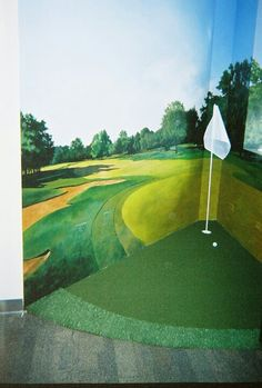 How would you like this in your office? Putting green in office. Krevitz Golf Turf Solutions, Chicago, Holly Krevitz.