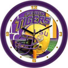 Mens LSU Tigers - Football Helmet Wall Clock
