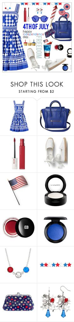 """""""Happy Independence Day!"""" by ultracake ❤ liked on Polyvore featuring Kate Spade, Maybelline, GUESS, Grandin Road, MAC Cosmetics, Edward Bess, Cath Kidston, Etnia Barcelona, fourthofjuly and ultracake"""