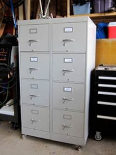 I'm an inveterate scrounger, so when I saw two used file cabinets put out for recycling; I decided to recycle them myself. I needed a larger tool cabinet for my garage shop, and I thought I could make them work... Read more.