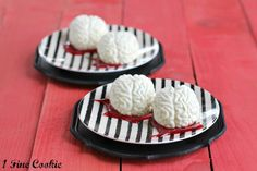 Panna Cotta Brains with Raspberry Blood Sauce recipe from 1 Fine Cookie