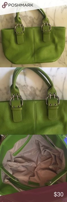 SALE! Small green purse!✨ Small green tignanello purse, in great condition just a few very small marks on the inside as shown in the pictures. Barely even noticeable.✨ Tignanello Bags