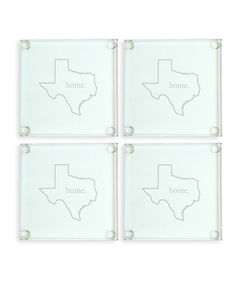 Home State Glass Coaster - Set of Four