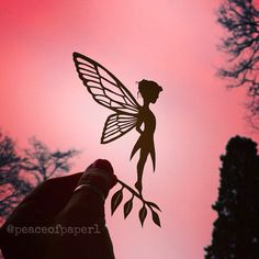 Papercut fairy - cut from paper by Jo Chorny - Peace of Paper - peaceofpaper1 - paperart - magical fairy.
