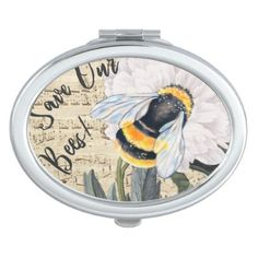 Save Our Bees Collage Mirror For Makeup - classy gifts custom diy personalize