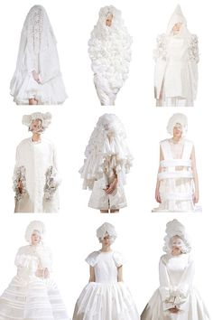 ~~Comme Des Garcons Spring Via i've seen the truth and it's nothing like you said White Fashion, Fashion Art, Editorial Fashion, Fashion Show, Fashion Outfits, Fashion Design Portfolio, Comme Des Garcons, School Fashion, Runway Models