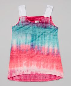 Another great find on #zulily! Teal & Fuchsia Northern Light Tank - Girls #zulilyfinds