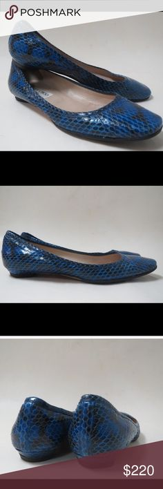🐍Jimmy Choo Faux Snakeskin Flats💎🐍💋 * Embossed leather upper * Rubber reinforced leather sole * Made in Italy * Slip on construction Jimmy Choo Shoes Flats & Loafers