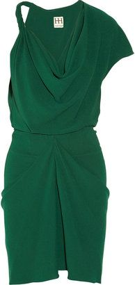 Beautiful green. ShopStyle: Haute Hippie Draped hammered-georgette dress