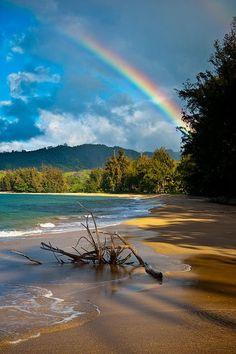 Rainbow in Kauai, Hawaii. No wonder they call Hawaii the rainbow state! Dream Vacations, Vacation Spots, Kauai Vacation, Hawaii Travel, Places To Travel, Places To See, Travel Destinations, All Nature, Nature Images