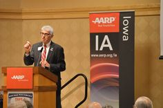 Kent Sovern, state director for the Iowa Chapter of the AARP, gives a presentation on Social Security benefits issues Wednesday in Ames. Photo by Austin Harrington/Ames Tribune http://www.amestrib.com/news/20160921/aarp-looks-for-ways-to-avoid-massive-cut-in-social-security-benefits