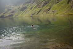 Wild Swimming in Llyn Cau up Cadair Idris #Wales #Walking #mountains #mountainlake