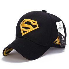 0aefd937abf 2015 Brand Superman Baseball Cap Unisex Adjustable Cotton Snapback Caps Men  Sport Hats for Women Outdoor