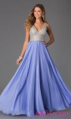 Floor Length Sleeveless V-Neck JVN by Jovani Dress at PromGirl.com Formal  Dresses a4626b5867f4